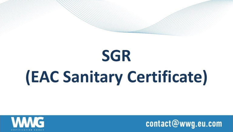 State registration certificate (Hygiene, sanitary, SGR)